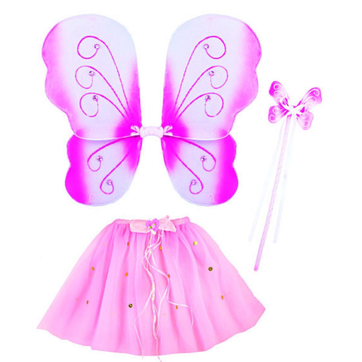 Rappa Karnevalová sada motýl 3 ks