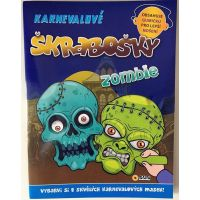 Sun Karnevalové škrabošky Zombie