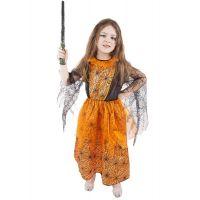 Rappa Karnevalový kostým Oranžový halloween vel. M
