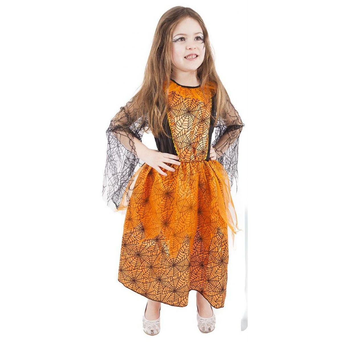 Rappa Karnevalový kostým Oranžový halloween vel. S