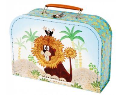 Kazeto 767-9048/025/8860 - Šitý kufřík  Krtek a lev 25cm