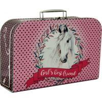 Kazeto Kufřík kůň růžový 35 cm