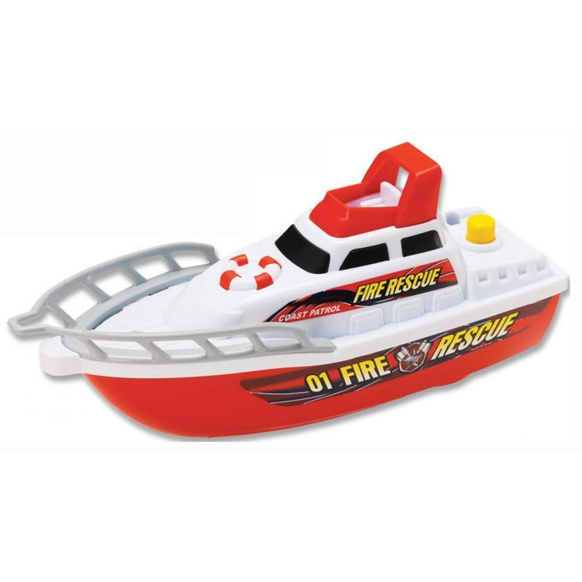 HM STUDIO 2813901-3 - Motorové čluny, 2AA baterie - hasiči - Modrá