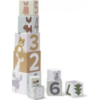 Kids Concept Kostky kartonové Edvin 10 ks
