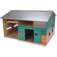 Kids Globe Dřevěná stodola s dílnou 1:32