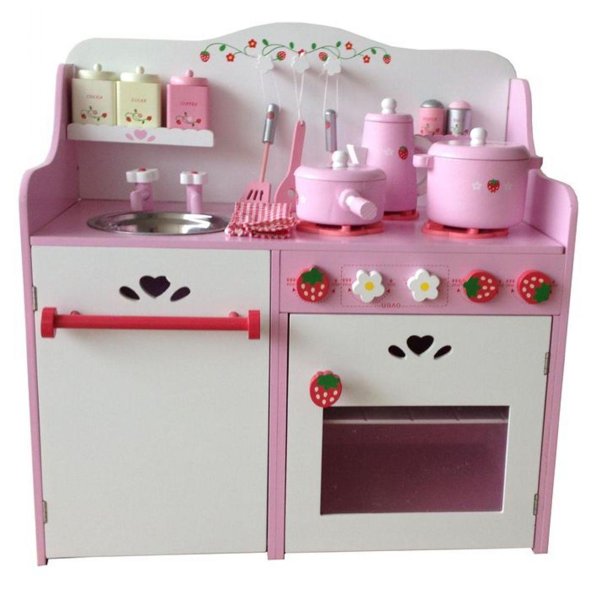 KidsHome Dětská kuchyňka s příslušenstvím 60 cm (02052)