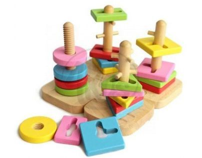 KidsHome Stavebnice univerzální - dřevěná ( 2065)