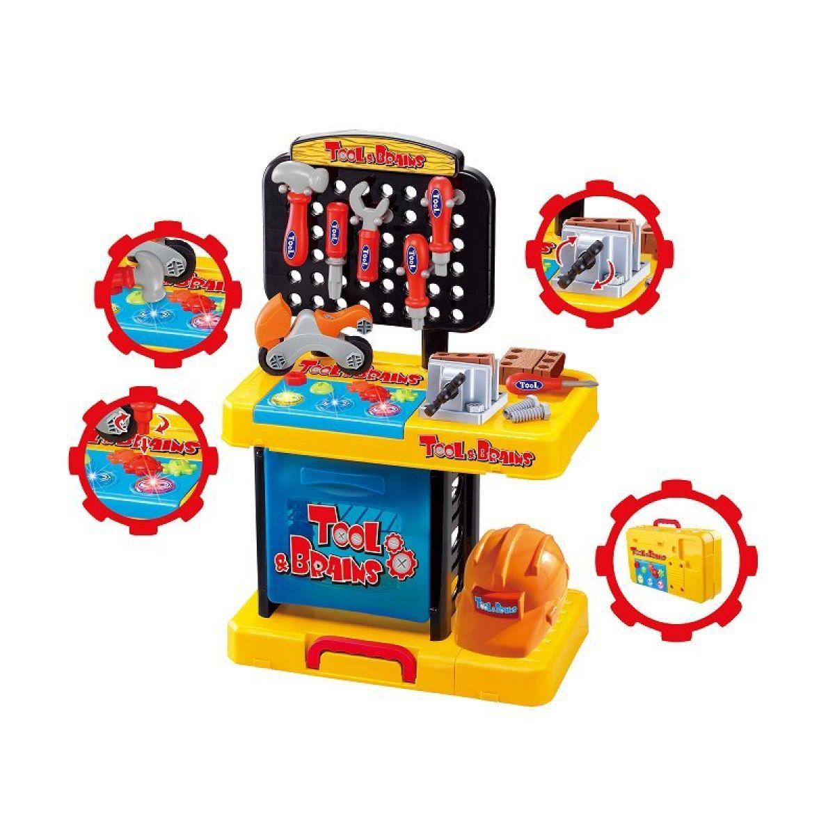 KidsHome Dílna pracovní stůl v kufříku (02074)