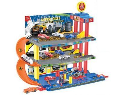 KidsHome Garáž 2 patra s dráhou a 6 aut (BF727488)
