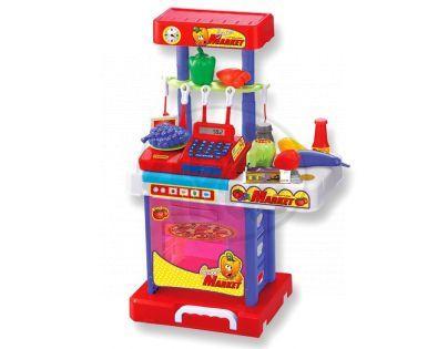 KidsHome KidsHome Supermarket Pokladna Kuchyňka v kufříku (02075)