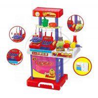 KidsHome KidsHome Supermarket Pokladna Kuchyňka v kufříku (02075) 2