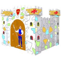 KidsHome Vymalovávácí hrad 86x86x80cm EP02049
