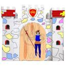 KidsHome Vymalovávácí hrad 86x86x80cm EP02049 2