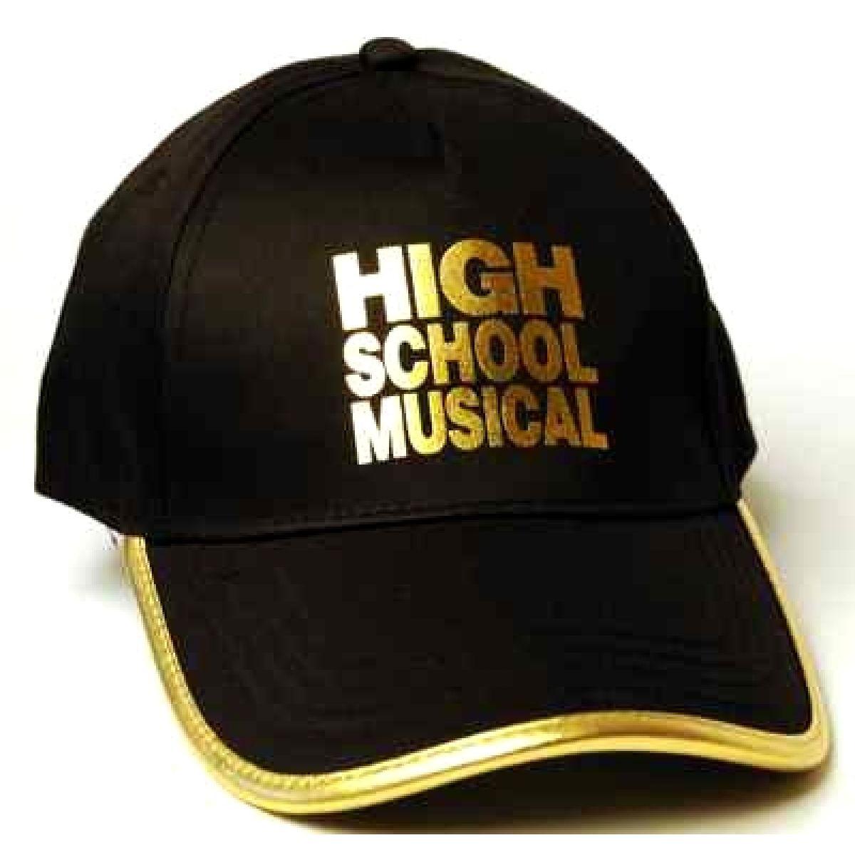 """Licence Only D28003 - Letní kšiltovka dívčí """"High School Musical"""" černá vel. 56"""