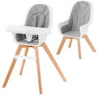 Kinderkraft Židlička jídelní 2v1 Tixi Grey