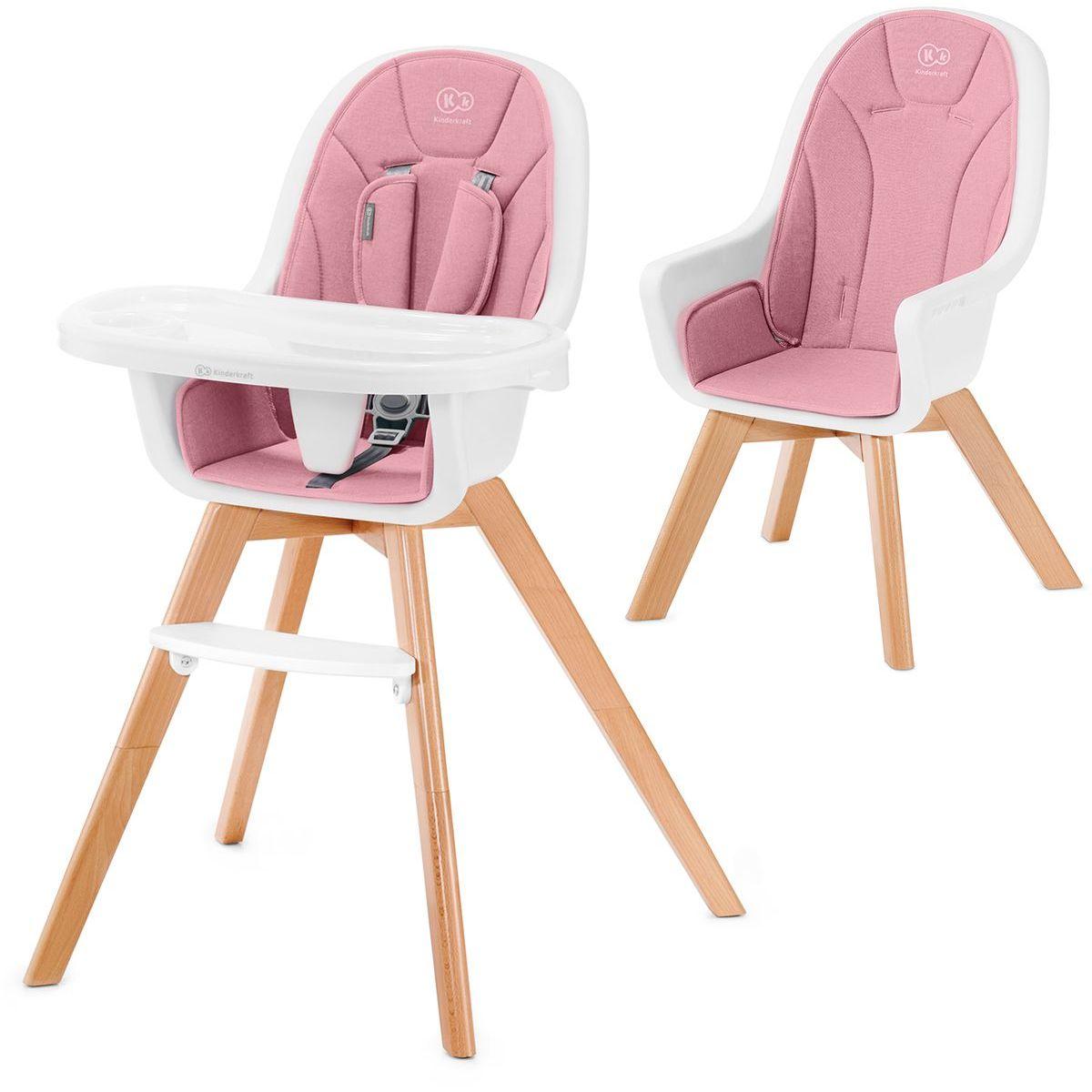 Kinderkraft Židlička jídelní 2v1 Tixi Pink
