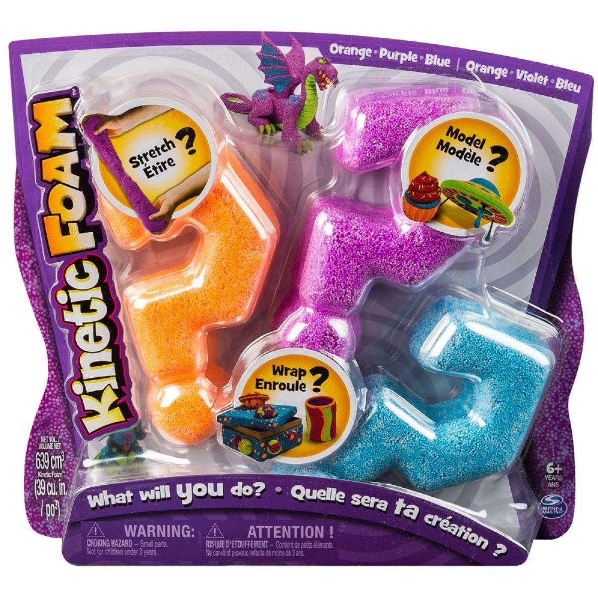 Spin Master Kinetic Foam balení se 3 barvami
