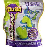 Kinetic Sand 2 barvy v balení - Modrá a zelená