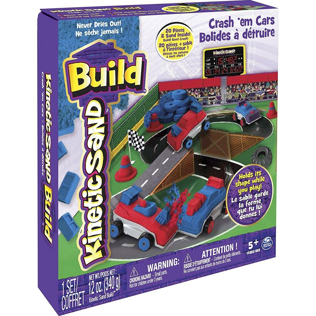 Kinetic Sand Build Bourej se svými auty