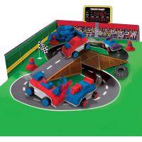 Kinetic Sand Build Bourej se svými auty 6