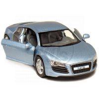 Kinsmart Auto Audi R8 na zpětné natažení 13cm - Modrá 2
