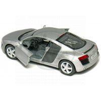 Kinsmart Auto Audi R8 na zpětné natažení 13cm - Stříbrná 2