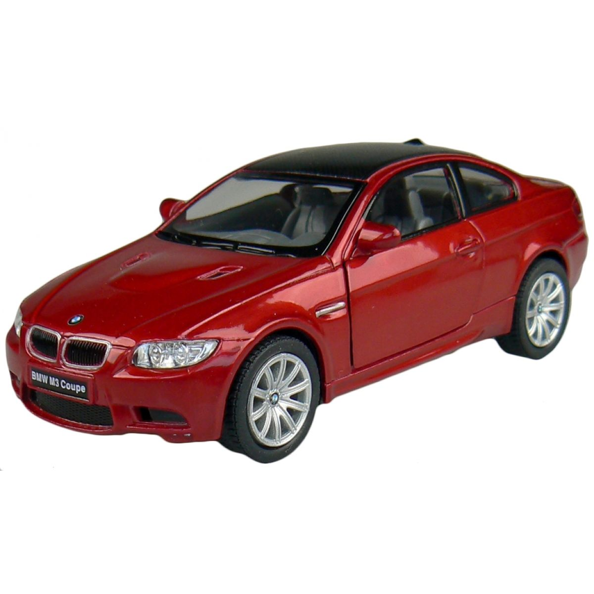 Kinsmart Auto BMW M3 Coupe na zpětné natažení 13cm - Červená