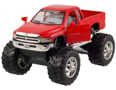Kinsmart Auto Dodge Ram velká kola na zpětné natažení 12cm - Červená