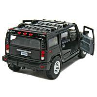 Kinsmart Auto Hummer H2 na zpětné natažení 12cm - Černá 2