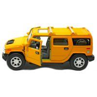 Kinsmart Auto Hummer H2 na zpětné natažení 12cm - Žlutá 2