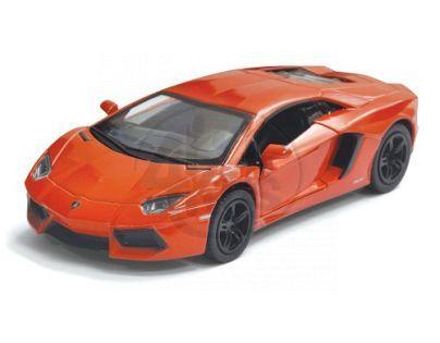 Kinsmart Auto Lamborghini Aventador na zpětné natažení 13cm - Oranžová