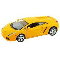 Kinsmart Auto Lamborghini Gallardo na zpětné natažení 12cm - Žlutá