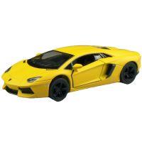 Kinsmart Auto Lamborghini na zpětné natažení 13 cm Aventador žlutý