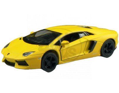 Kinsmart Auto Lamborghini na zpětné natažení 13 cm - Murcielago žluté