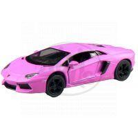 Kinsmart Auto Lamborghini na zpětné natažení 13 cm - Murcielago růžové