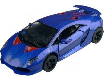 Kinsmart Auto Lamborghini Sesto Elemento 12 cm - Modrá