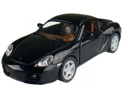 Kinsmart Auto Porsche Cayman S na zpětné natažení 13cm - Černá