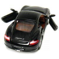 Kinsmart Auto Porsche Cayman S na zpětné natažení 13cm - Černá 2