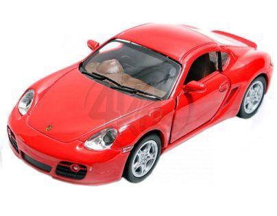 Kinsmart Auto Porsche Cayman S na zpětné natažení 13cm - Červená