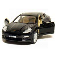 Kinsmart Auto Porsche Panamera S na zpětné natažení 12,5cm - Černá 2