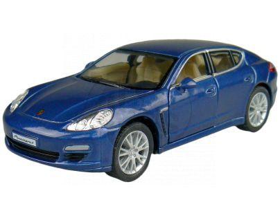 Kinsmart Auto Porsche Panamera S na zpětné natažení 12,5cm - Modrá