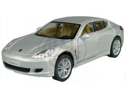 Kinsmart Auto Porsche Panamera S na zpětné natažení 12,5cm - Stříbrná