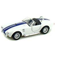 Kinsmart Auto Shelby Cobra 1965 na zpětné natažení - Bílá