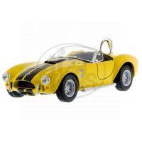 Kinsmart Auto Shelby Cobra 1965 na zpětné natažení - Žlutá