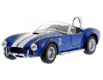 Kinsmart Auto Shelby Cobra 1965 na zpětné natažení - Modrá