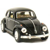 Kinsmart Auto Volkswagen Beetle na zpětné natažení - Černá