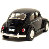 Kinsmart Auto Volkswagen Beetle na zpětné natažení - Černá 2