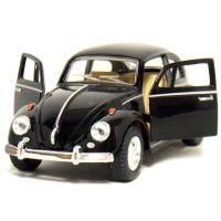 Kinsmart Auto Volkswagen Beetle na zpětné natažení - Černá 3