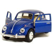 Kinsmart Auto Volkswagen Beetle na zpětné natažení - Modrá 3