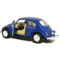 Kinsmart Auto Volkswagen Beetle na zpětné natažení - Modrá 4